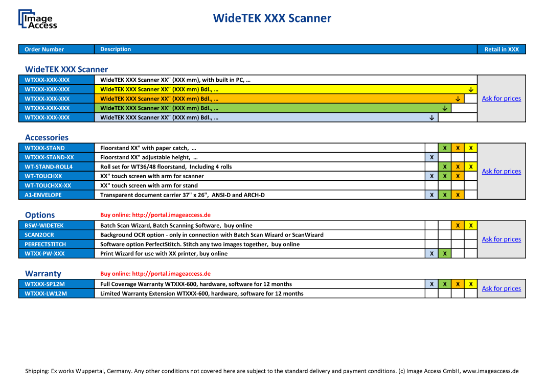 WideTEK 60CL Pricing