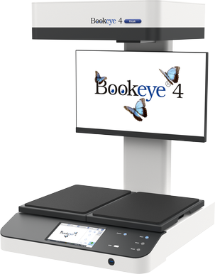 Overhead color book scanner for formats up to A3+