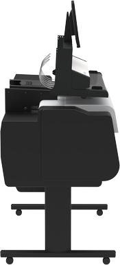 Move scanner back and forth for access to printer cover & ink tanks.