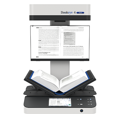 Bookeye® 4 Kiosk - Book scanner with V-shaped cradle