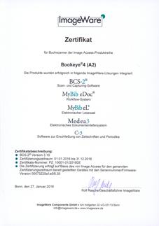 BCS-2 Certificate Bookeye4 (A2)